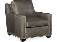 Shop for Bradington Young Ward Stationary Chair Tie, and other Living Room Chairs at Bradington Young in Hickory, NC. Blue Leather Chair, Leather Club Chairs, Leather Sofa, Papasan Chair, Swivel Armchair, Room Store, Hooker Furniture, Cool Chairs, Upholstered Dining Chairs
