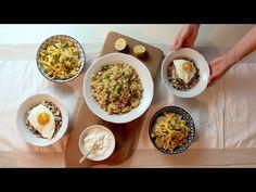Smažená rýže! 3 recepty! # 529 - YouTube Arroz Frito, Fried Rice, Risotto, The Creator, Grains, Eggs, Breakfast, 3, Youtube