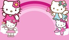 Photo by Joana marie Bagui Hello Kitty Art, Hello Kitty Themes, Hello Kitty Birthday, Birthday Tarpaulin Background, Birthday Background Design, Birthday Design, Hello Kitty Backgrounds, Hello Kitty Wallpaper, Hello Kitty Invitation Card