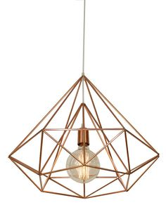 Himmeli Light Diamond Cage pendant Geometric Copper par panselinos