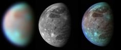 This montage compares New Horizons' best views of Ganymede, Jupiter's largest…