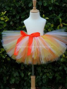 Candy Corn Adult  with Bow Tutu Small to Lg by totaltutu on Etsy, $39.00