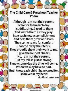 The Child & Care of a Pre School Teacher