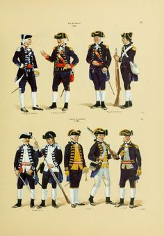 Uniforms of Portuguese Soldiers in Brasil - 18th century