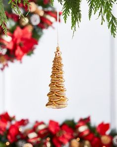 HB536  Gold & Glitter Collection Golden Tree Ornament