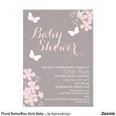 sweet mason jar pink | gray baby shower invitation | baby shower, Baby shower invitations