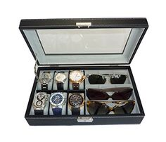 6 Piece Watch Case and 3 Piece Eyeglasses Storage Black Leatherette Combo Jewelry Box and Sunglass Glasses Display Case Organizer TimelyBuys http://www.amazon.com/dp/B009277N3Y/ref=cm_sw_r_pi_dp_294Zvb0JT569Q