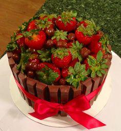 Strawberry and Kit Kat Cake
