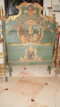 Extraordinary Antique French 18th C Carved Cherub Angel Bed Headboard Footboard | eBay