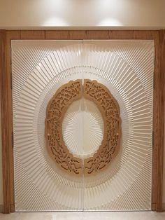 Designer carving door done by dessinlearte. Home Room Design, Door Design Interior, Wooden Door Design, Carved Wood Wall Art, Room Door Design, House Entrance Doors, Pooja Room Door Design, Luxury Houses Entrance