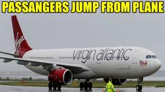 Terrified passengers jumped from a Virgin Airline plane at an Australian airport after a threatening note was found on board.