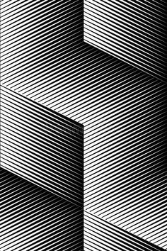 Vector Op Art Pattern. Optical Cube Illusion Abstract Background Stock Vector - Illustration of lines, black: 94679461