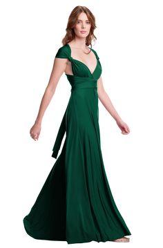 Sakura Emerald Green Maxi Convertible Dress - Henkaa
