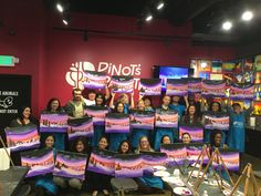 Dreaming of winter with this awesome party and painting. Thanks to Aspen Skilled Healthcare for painting with us tonight! Corporate Team Building, Team Building Events, Fundraising Events, Aspen, Corporate Events, Holiday Parties, Health Care, Thankful, Neon Signs