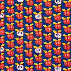 Bio-Jersey+-+saftige,+rote+Äpfel+auf+blau+(15-033)+von+Das+Blaue+Tuch+auf+DaWanda.com