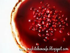 Pomegranate Cheesecake - I made this cheesecake for Thanksgiving and it was a winner!