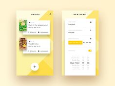 Habit App illustration card ui setting new yellow vector shadow homepage Web And App Design, Mobile App Design, Web Mobile, Mobile App Ui, Ui Ux Design, Interface Design, Mobile Game, User Interface, Habit App