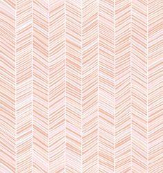 Herringbone Wallpaper, Pink - modern - wallpaper - Spoonflower