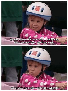 I remember watching this exact episode!! I want to be Michelle Tanner when I grow up.