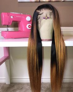 hair on blackwomen Rose PrePlucked Ombre Blond Lace Frontal Wig Density Source by Wigs ombre My Hairstyle, Wig Hairstyles, Straight Hairstyles, Colored Weave Hairstyles, Wedding Hairstyles, Korean Hairstyles, Hairstyles Videos, Casual Hairstyles, Japanese Hairstyles