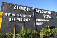 This store in Las Vegas has all you need to survive the apocolypse.  Including food that doesn't expire for 20 years.