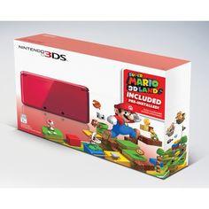 Nintendo 3DS w/Super Mario 3D Land - Red (Nintendo 3DS) #Target