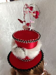 Hey, I found this really awesome Etsy listing at https://www.etsy.com/listing/169648637/whimsical-mini-top-hat-fascinator-hair