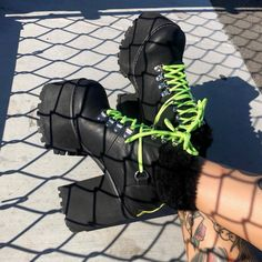 Goth Boots, Punk Shoes, Grunge Shoes, High Platform Shoes, Kawaii Shoes, Gothic Shoes, Shoe Boots, Shoes Heels, Aesthetic Shoes