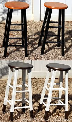 French Inspired Bar Stool Makeover Crafty 2 The Core Diy