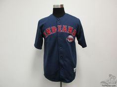 Dynasty Cleveland Indians SEWN Button Up Baseball Jersey sz M Medium MLB AL #Dynasty #ClevelandIndians