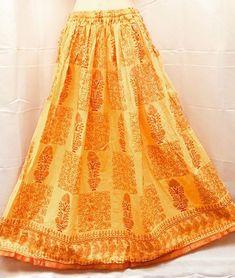 1ad1d9af8 Jaipur Skirt Rayon MultiDesign Printed Rajasthani Elastic waist ...