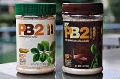 """""""PB2"""". It's a powdered peanut butter. You just add a little water and stir and it becomes almost completely like """"real"""" peanut butter minus all the fat and oil!"""