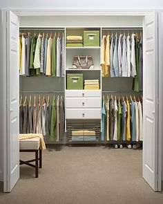 master bedroom walk-in closet inspiration #1  //  a la martha stewart living