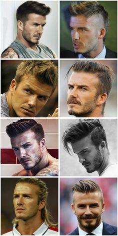 How to Get David Beckham's Undercut Haircut + 27 David Beckham Hairstyles David Beckham Haarschnitt Cabelo David Beckham, David Beckham Haircut, David Beckham Style, David Beckham Mohawk, David Beckham Long Hair, David Beckham Kids, Top Hairstyles For Men, Undercut Hairstyles, Cool Haircuts