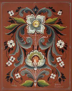 Images Lindas, Rosemaling Pattern, Tole Painting Patterns, Wood Patterns, Norwegian Rosemaling, Folk Art Flowers, Scandinavian Folk Art, Thinking Day, Tea Art