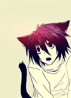 『 Death Note デスノート 』   L, Ryuzaki, Lawliet   neko, adorable