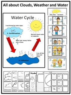 Everything+your+young+kiddos+need+to+know+about+water+is+in+this+fun+filled+activity+unit.+It+includes+an+easy+informative+reader+about+clouds+and+a+fun+easy+reader+about+rain,+a+water+cycle+poster+and+worksheets+on+weather,+the+water+cycle+and+clouds.