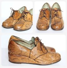 1940's snakeskin shoes