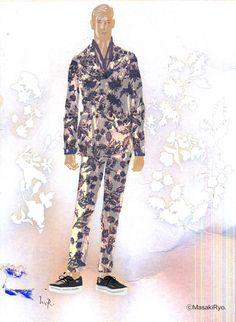 Gucci SPRING 2014 | Illustration by Masaki Ryo