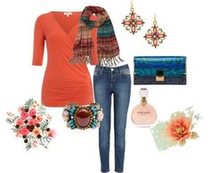 """comfy coral"" by coolmommy44 ❤ liked on Polyvore"