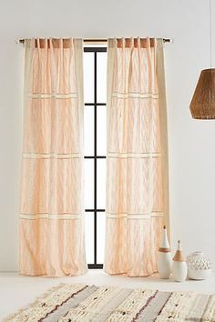 Anthropologie Embroidered Dierdre Curtain