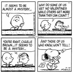First Appearance: February 14th, 1981 #peanutsspecials #ps #pnts #schulz #snoopy #charliebrown #linus #mystery #valentines #count #wont #tell www.peanutsspecials.com No Valentine, Snoopy Valentine, My Funny Valentine, Snoopy Comics, Cute Comics, Peanuts Comics, Charlie Brown And Snoopy, Snoopy And Woodstock, February 14