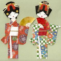 japanese geisha paper dolls