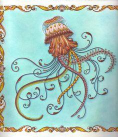 Medúza háttérrel szkennelt