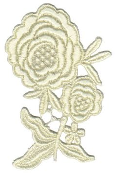 Vintage Lace Double Rose   Wedding Lace Machine Embroidery Design or Pattern
