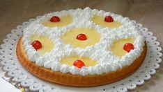 Crostata morbida con ananas e panna