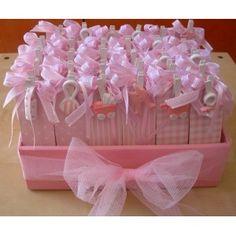 scatoline portaconfetti con clip rosa