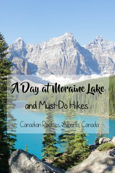 Moraine Lake in Alberta's Banff National Park is one of my favourite places I've ever been. The natural beauty there is unbelievable and so breathtaking that it feels like you̵… Moraine Lake, Lake Moraine Canada, Alberta Travel, Banff National Park, National Parks, Oregon Travel, Best Hikes, Best Places To Travel, Beautiful Places To Visit