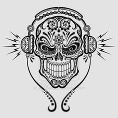 DJ Sugar Skull by Jeff-Bartels.deviantart.com on @deviantART