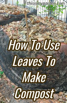 to use leaves to make great compost - the tips and tricks for composting leaves. How to use leaves to make great compost - the tips and tricks for composting leaves. Leaf Compost, Compost Soil, Garden Compost, Garden Soil, Garden Landscaping, Garden Beds, Potager Garden, Composting At Home, Worm Composting